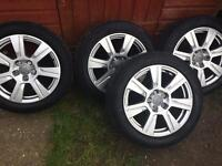 17inch Audi Alloys wheels and vGood tyres