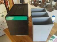 Linea 330 waste/recycling sorter bin