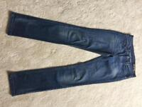 All Saints Skinny Jeans Ladies waist size 27 never worn