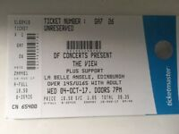 2 Tickets for The View 4/10/17 at La Belle Angel in Edinburgh