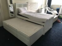 Children's furniture company Single bed with trundle and mattresses