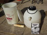Beer or Cider Making Equipment - fermenter, pressure barrel and refillable gas cylinder