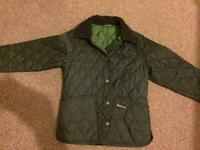 Boys Green Quilted Barbour jacket