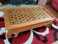 Oak Carved coffee table
