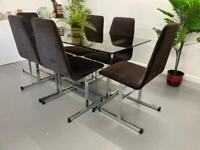 Retro Mid Century Table and Chairs by Tim Bates Lisse Design for Pieff