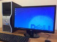 GAMING PC DELL T3500 - XEON Quad Core, 16GB Ram, GeForce GTX 650, 1TB HDD + 23 inch Monitor Desktop