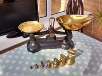 Iron and brass vintage scales