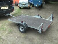 6-6 X 4-0 FLATBED TRAILER WITH LIGHTS ETC..............