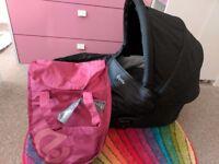 Oyster one full travel system & burgundy colour pack
