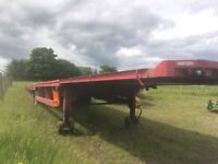 Low loader 45ft montracon trailer