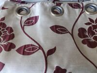 Full length and lined curtains, 5 pairs with tie back, great for caravan or lodge too