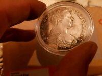 Proof Austrian silver thaler coin