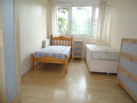 Twin room is available in a clean flat, by the local shopping area, GYM, Library