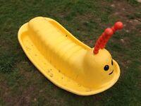 Children's caterpillar seesaw