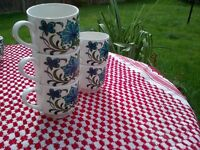 spanish garden expresso style, retro coffee cups