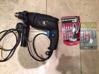 Power Base 710W Hammer Drill, with 2 drill sets - Barely used. PICK UP ONLY - MUST GO NOW!