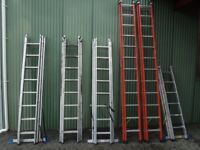 Red Zarges Extension Ladder (2 x 12 rungs)
