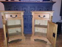 BESPOKE VICTORIAN STYLE MATCHING BEDSIDE CABINETS VERY NICE WELL MADE ITEMS FREE LOCAL DELIVERY