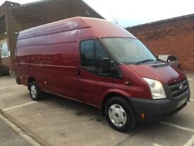 Ford transit jumbo van 2010 60 2.4 tdci 6 speed lwb high roof 1 owner service history drives mint