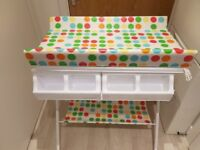 Baby bath with changing unit