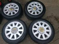 "Audi 16"" alloys with tyres 5x112"
