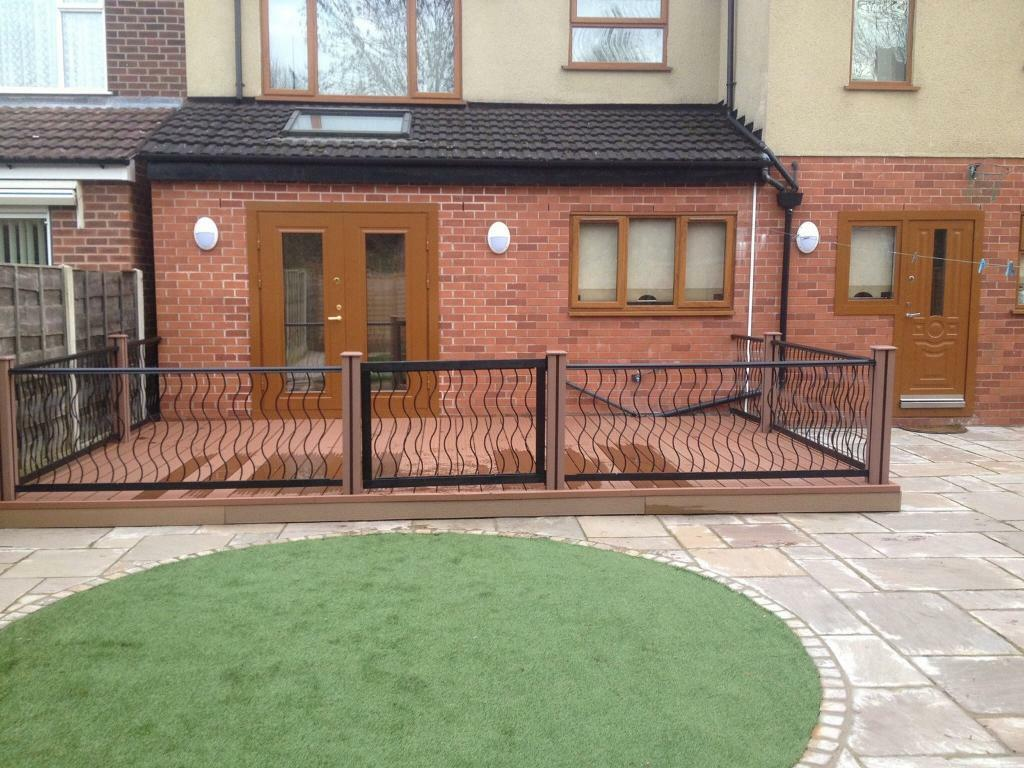 Gardens drives fencing drains decking composite flagging for Garden decking gumtree