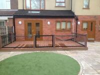 Gardens Drives Fencing Drains Decking Composite Flagging Paving Turfing Artificial Grass Mini digger