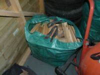 logs / firewood, 3x large sacks of fire wood, ready to burn, woodburner, open fire etc