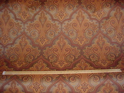 9+Y LEE JOFA LUXURIOUS COPPER ARABESQUE PAISLEY WOOL UPHOLSTERY FABRIC