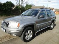 2002 52 JEEP GRAND CHEROKEE 4.0 AUTO LPG LIMITED ESTATE 4X4 LOW 63K HISTORY LEATHER TOW BAR PX SWAPS