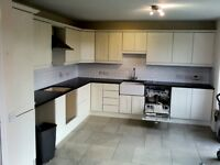 Kitchen units, solid granite worktop, belfast sink and swan tap