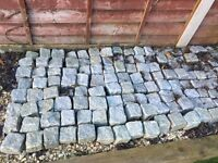tumbled granite setts 100mm x 100mm