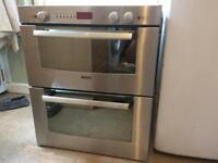 Bosh HBN7052GB built in/integrated. Electric double fan oven
