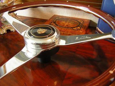 "Jaguar Wood Steering Wheel  XK 140  XK150 1954 - 62  Rivets NOS New 15"""