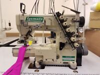 Yamato VC2700-156M Industrial High Speed Cylinder Bed Coverstitch Sewing Machine