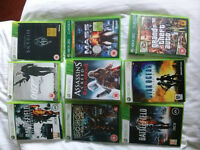 9 x XBOX 360 games GRAND THEFT AUTO, BATTLEFIELD, STAR OCEAN, 007 James Bond ETC