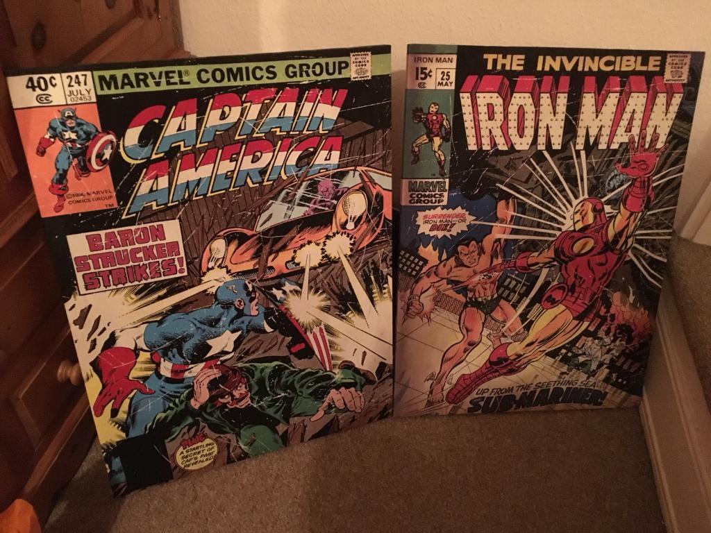 Marvel superhero's canvas pictures