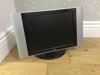 """Flatscreen 15"""" TV, with built in freeview."""