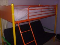 BUNK BED WITH FUTON / DOUBLE BED BELOW