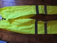 High Visibility Waterproof over trousers £15.00 ono