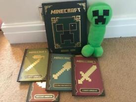 Minecraft guides and creeper plush toy