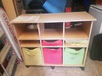 Unit with 5 fabric drawers