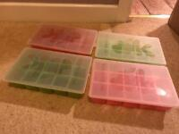 Baby purée books and moulds for freezing