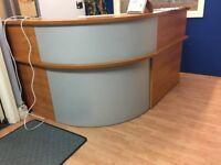 Solid wood reception desk