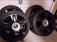 Black ford st alloys with brand new tryes