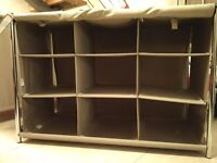 Habitat Alexis Line: 3 Wardrobes and 2 Storage shelves + matching boxes and bags