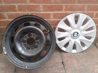 "BMW 3 SERIES 16"" INCH STEEL WHEEL RIM X4 + 4*Trim Wheel Set"