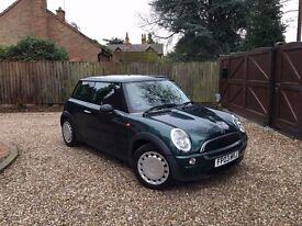 2003 03 MINI Hatch 1.6 One 3dr.. LOW MILES! FAMILY OWNED FROM NEW!! IDEAL FIRST CAR!!