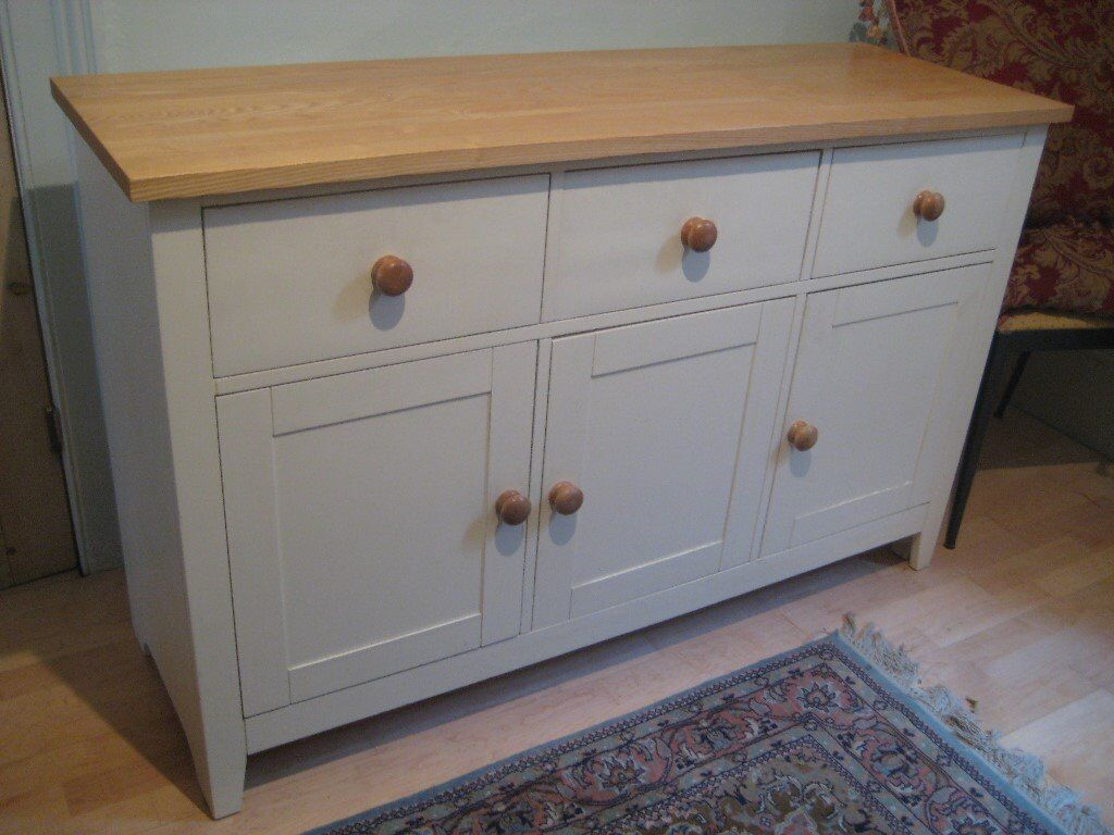 Country farmhouse cream painted sideboard in clapham for Painted buffet sideboard