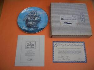 W.S. GEORGE TWILIGHT UNDER THE FULL SAIL COLLECTOR PLATE London Ontario image 3